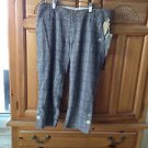 women's plaid Capri pants size 3 by element