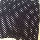 Black & White Polka Dot Skirt Size 10 With Zipper By Briggs