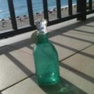 Seafoam Green Glass Bottle With Topper