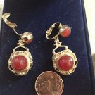 Vintage Jewelry 1940's Screw Back Clip-On Earrings ^