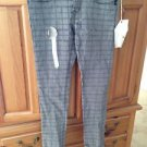 Womens grey square design pants size 5 by element
