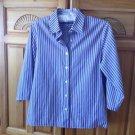 Womens Purple Striped Blouse Size 8P by Foxcroft Wrinkle Free