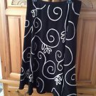 Womens Black Print Skirt Size 12 by Allison Taylor Nights