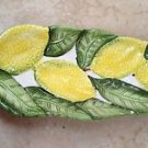 Lemon Yellow & Green Leaves serving Dish