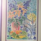 """blue tides II "" floral signed Whitney print 8 of 8"