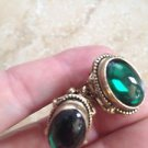Exquisite Vintage Jewelry 1940's Screw Back Clip-On Earrings ^