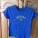 girls blue short sleeve top size medium by Hurley Girlie