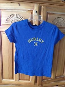 girls blue short sleeve top size medium by Hurley Girlie
