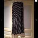 Black & White Striped Full Length Skirt Size Extra Large By Matty M