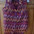 Womens Sleeveless Graduated Hemline Multicolored Blouse Size Medium by Mileage