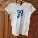 roxy girl short sleeve top size large