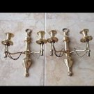 set of 2 brass candelabras