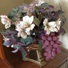 Beautifully Lush Floral Arrangement With Gold Toned Stand