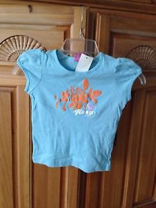 Roxy Teenie Wahine girl blue top size medium