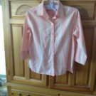 Womens Pink Striped Blouse Size PS by Studio Works Petite