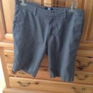 Men's Grey Pin Stripe Shorts Size 32 By Rusty