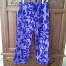 Womens Print Capri Pants Purple/lavender Roxy Quiksilver Size 3