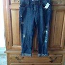Womens Capri distressed jeans size 3 by roxy bolsa boyfriend fit