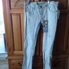 Womens jeans Malibu baby blue size 7 distressed by roxy light blue