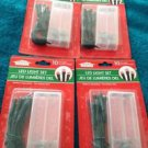 Set of 4: LED battery operated 10 light indoor set red