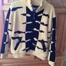 Womens sweater gold & black print size small by Jamie Sadock