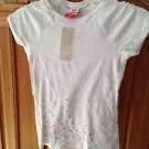 roxy girl short sleeve hugs & kisses top size medium