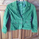 Roxy Girl Green Corduroy Girls Blazer Jacket Size Small/Petite