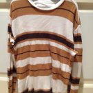 brown striped shirt by foot locker size medium beautiful condition
