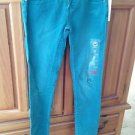 Roxy Pismo Super Skinny Fit Distressed Turquoise Jeans Size 3