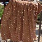 Polka Dot Skirt Mocha By Fritzi Sport Size 18