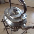 Rr Sheffield Silver Plate Teapot, Stand, Propane Gel Holder