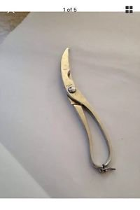 chrome plated Italian shears