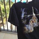 Star Wars cartoon black fruit of the loom shirt sleeve t-shirt XL