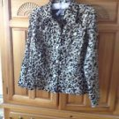 Womens Animal Print Jacket Size 8 by Ruby Rd Favorites