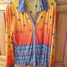 womens blouse Caribbean colors size large by Erin London