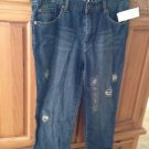 Capri distressed jeans size 5 by roxy bolsa boyfriend fit