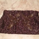 exquisite chocolate colored evening bag in beautiful condition