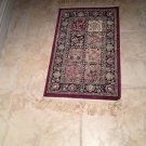 "Beautiful Asian Rug In Burgundy Tones Approximately 19"" X 39"""