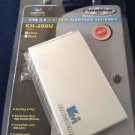 "USB 2.0 2.5"" HDD aluminum enclosure silver by kingwin"