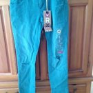 Roxy Pismo Super Skinny Fit Distressed Turquoise Jeans Size 1