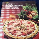 whirlpool micro menus cookbook hardcover