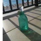 Turquoise Decorative Glass Bottle ^