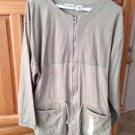 Womans Zipper Jacket With Drawstring Waist By Russ Size Large Khaki