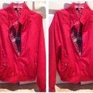 2 Knightsbridge red jackets with beautiful plaid lining, zippered, size large