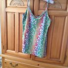 Womens Camisole Peace Sign Top Multicolored Size XL by No Boundries