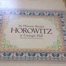 An Historic Return Horowitz At Carnegie Hall Double Record Album