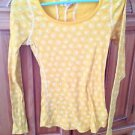 women's OP cheerful juniors top long sleeve print size medium