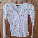 women's Nautical anchor top long sleeve print size medium by self esteem