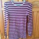 women's purple stripe long sleeve top size medium by Arizona jean company