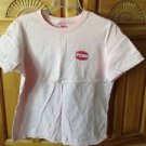 women's pink shirt with fish motif size medium by penn